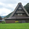 A Gassho-zukuri house with Flowers. If you look carefully you can see a microwave dish! Kind of spoils the traditional effect, but I guess it's pretty boring out here so they've go to have some fun...