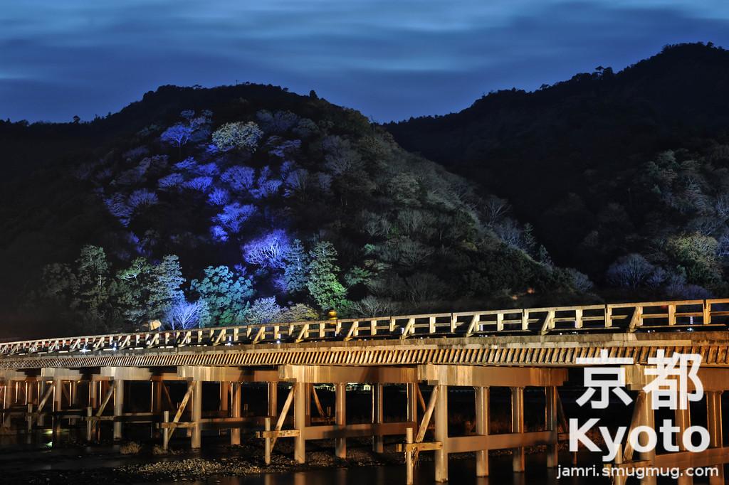 Togetsukyo during the Arashiyama Hanatouro